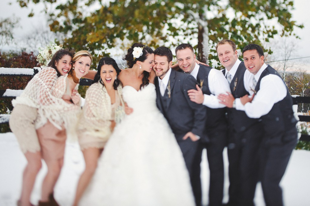 Mariage sous la neige !