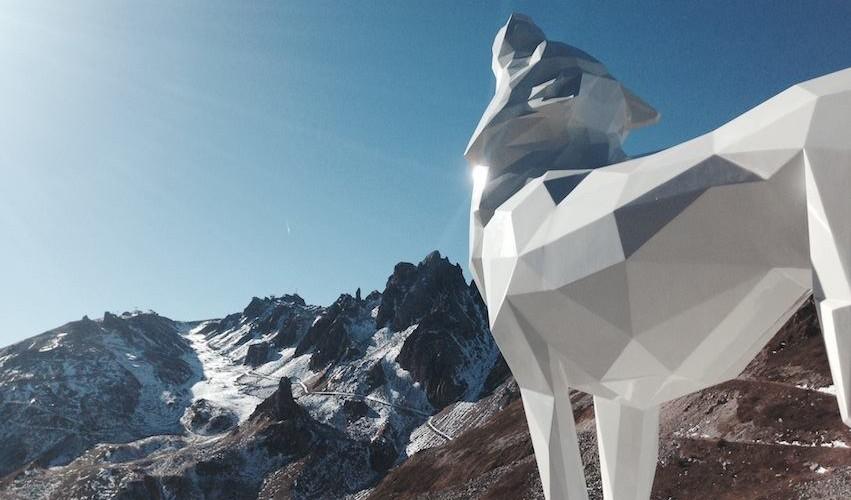 Art au sommet par Richard Orlinski